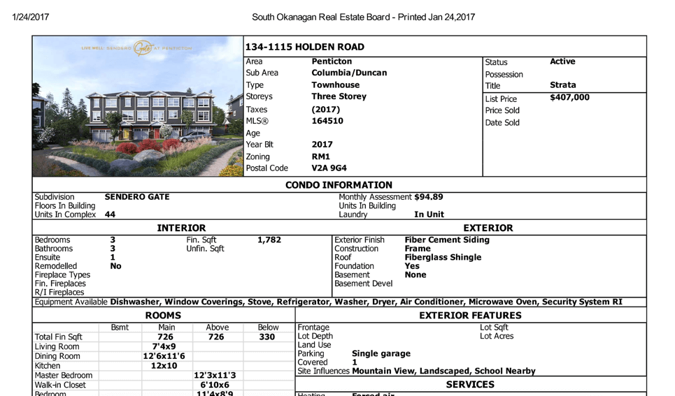 Penticton Real Estate Listing - Okanagan Real Estate Board